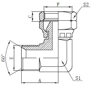 Σύνδεση αγκίστρου αγκώνα BSP