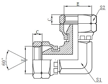 Προσαρμογέας προσαρμογέα θηλυκού αγκώνα BSP