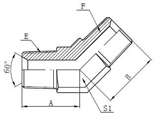Σχέδιο αρσενικού συνδετήρα BSPT