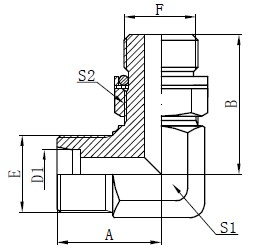 Αγκώνας Υδραυλικοί προσαρμογείς Σχέδιο